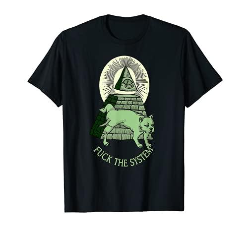 Anti NWO イルミナティ イルミネート ピラミッド オールシーイングアイ Tシャツ