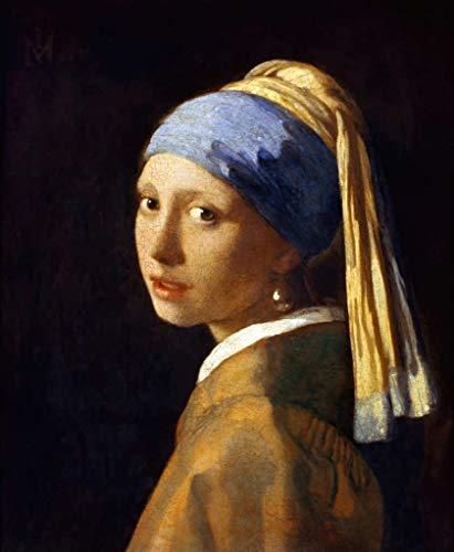 Kunstdruck/Poster: Jan Vermeer Van Delft Das Mädchen mit dem Perlenohrring - hochwertiger Druck, Bild, Kunstposter, 50x60 cm
