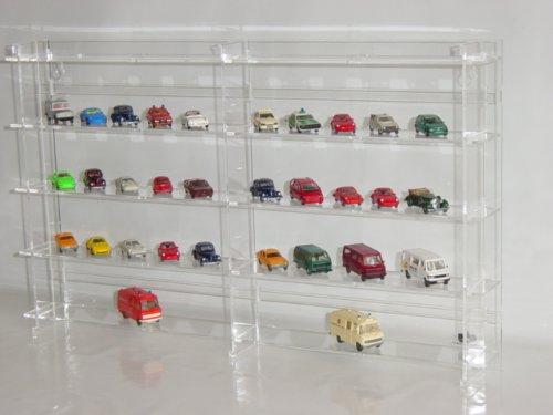 Setzkasten für Wiking Modellautos aus Acrylglas SL009 Rückwand Transparent