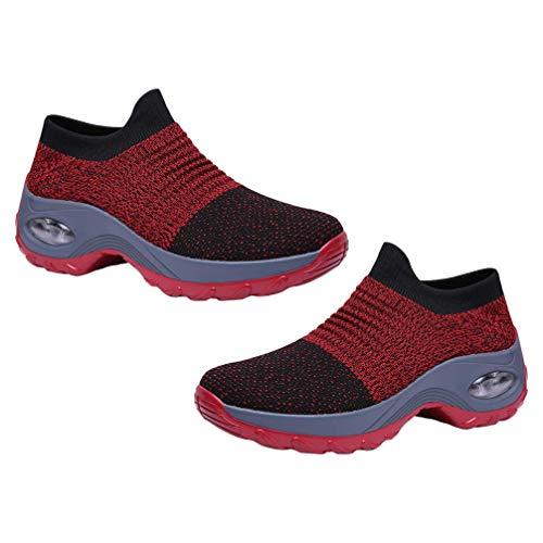 Damskie wsuwane buty do chodzenia Mesh Oddychające trampki Athletic Road Running Trainers Buty sportowe do biegania Air Trainers