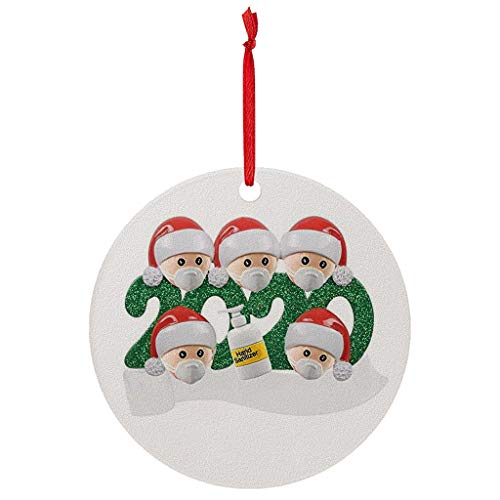 VEFSU 2020 Christmas Treee Ornaments Friends Gift | Holiday Xmas Tree Decorations | Iron Art Material | 2.7×2.7 Inch(N)