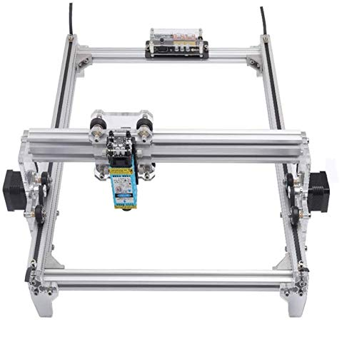 HUKOER 40X30 CM DIY CNC Laser Engraver Kits 12 V USB Desktop Laser Graviermaschine, einstellbare Laser Power Drucker Carving & Schneiden Holz Kunststoff Hörner Brieftasche Telefon Shell (7000MW)
