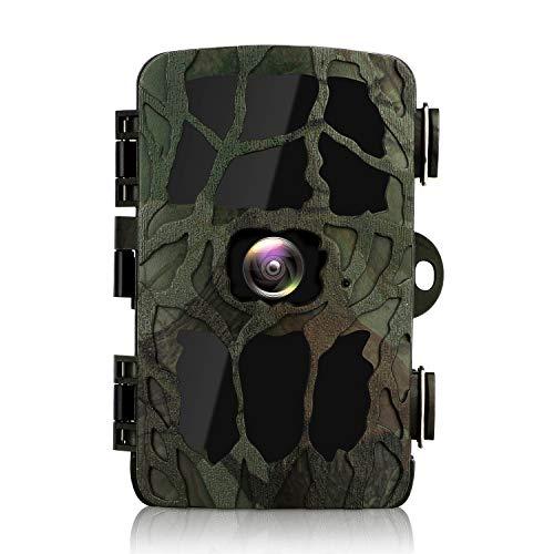 BYbrutek Wildkamera, 20MP, 4K HD, Überwachungskamera mit Bewegungsmelder 40 PCS 850 nm IR LEDs, Nachtsicht bis zu 25M, 2,4 Zoll LCD, IP66 wasserdicht, für Wildtierjagd und Heimsicherheit