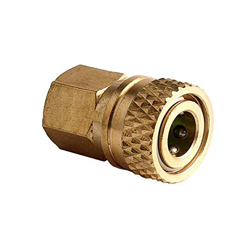 IORMAN 1/8 BSPP Female to 8MM Female Quick-Disconnect Connector Brass Plug Adapter