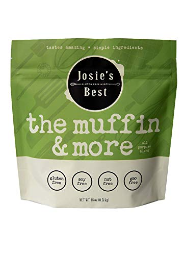 Josie's Best Muffin & More Mix, 1:1, Measure for Measure Flour (Sugar Free, Gluten Free, Soy Free, Nut Free, GMO Free) tastes amazing | simple ingredients 18oz.