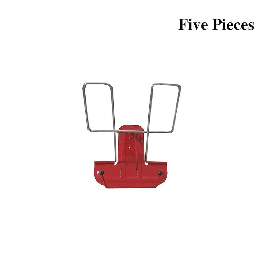 部門同盟ソフィーブックスタンド ミニ、書見台 高さ、耐久性のある多機能金属読み取りフレームは、複数の角度で折りたたむことができます 5パック Red