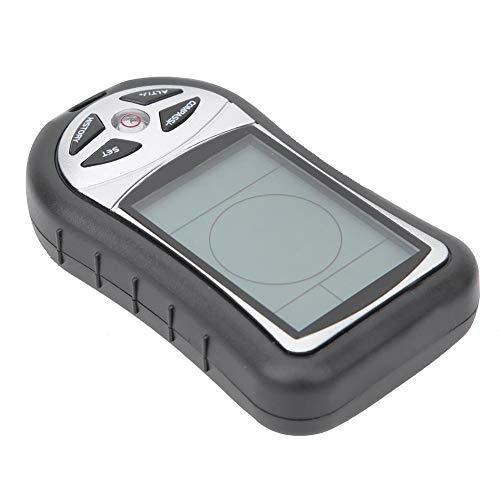 Nunafey Multifunktions-Höhenmesser, Navigations-GPS, 8-in-1-Campingkompass, Höhenmesser, Höhen-Display-Gerät für Höhenwanderungen im Freien