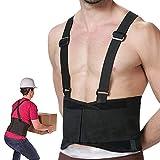 RHINOSPORT Rückenbandage Verstellbar Arbeitsschutz entlastet Rückenstützgürtel Industriegurt Rückengurt Hochwertiger Schulter