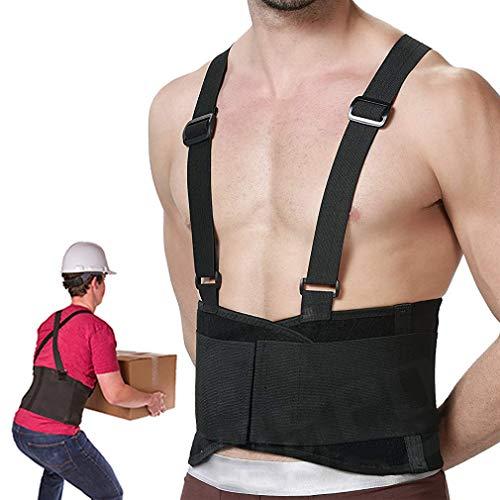 RHINOSPORT Rückenbandage Verstellbar Arbeitsschutz entlastet Rückenstützgürtel Industriegurt Rückengurt Hochwertiger Schulter Rücken die Rückenmuskulatur und zur Rückengürtel Damen Herren M