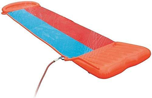 Doble Carril de Agua Inflable de Diapositivas |Incluye Velocidad de rampa & Splash Landing |Gran Juguete del Verano al Aire Libre for la diversión de la Familia DDLS