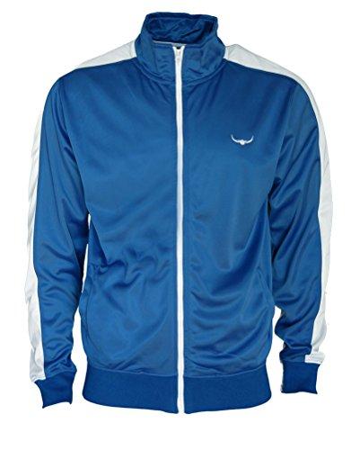 ROCK-IT Apparel® Track Jacket - Hombres con Estilo y Calidad de Estilo Retro Chaqueta de chándal por Rock-IT Tamaño S-XXXL - Color Negro Azul - XL