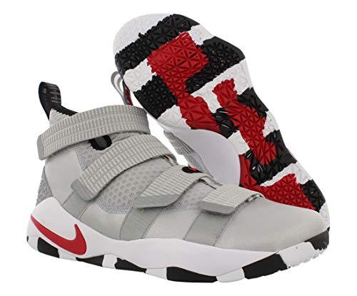Nike Lebron Soldier XI Hommes Chaussure De Basket-ball, gris (Argent métallisé/rouge Varsity), 44...