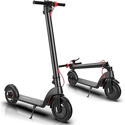 YYGG Electric Scooter Adult, Upgraded Detachable Battery, Max Speed 19 MPH, 8.5-inch Dual Density Tires, Foldable and Portable Commuting Electric Scooter for Adults