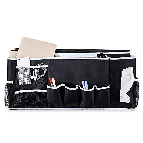 iufvbgxdh 12 Pocket Bedside Storage Pocket Organiser Bedside Storage Caddy and Couch Hanging Storage Perfect for Bunk Beds, Sofa, Bed Rails, Baby Bed