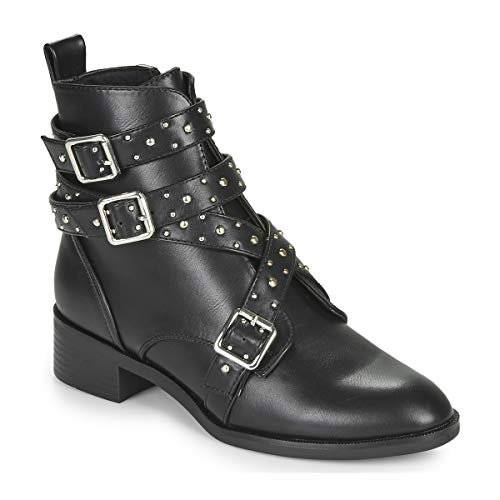 only Bright 14 Pu Stud Boot Ankle Boots/Boots Women Black - 7.5 - Mid Boots Shoes