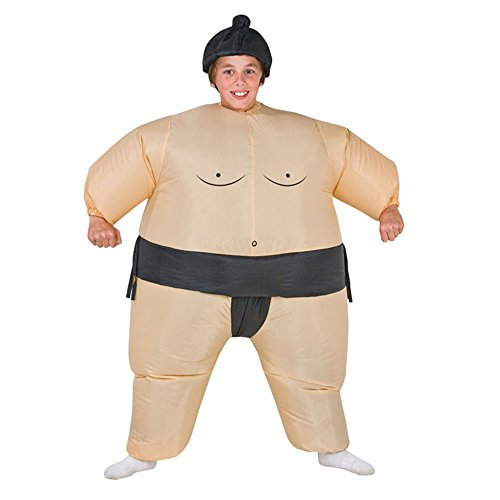 Inflatable Sumo Wrestling Costume For Kids Suit Boys Fancy Dress Outfit...