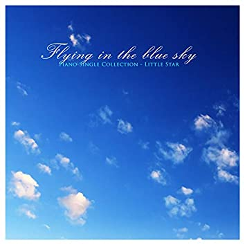 Flying in the blue sky