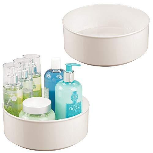 mDesign Set da 2 Organizzatore trucchi girevole – Organizer cosmetici, lozioni e medicinali –...