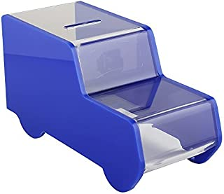 MCB Ambulance / Truck Acrylic Box - Charity Box - Collection Box - Collection Box - Tip Container (Blue)