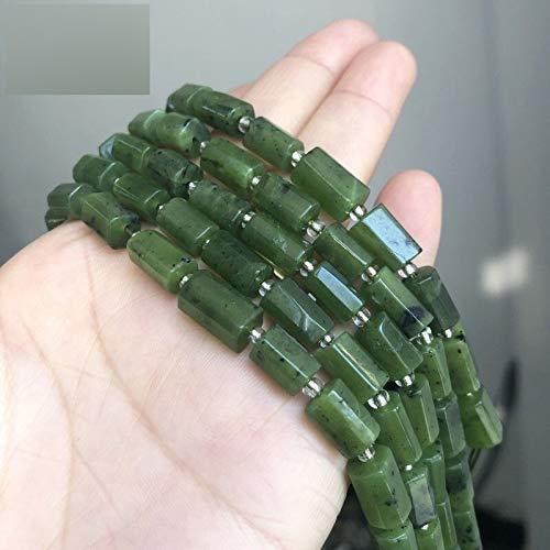 NXCY01 Facetas Verde Natural de Canadá Bolas de Piedra Jades Cilindro Espaciador de los Granos for la joyería Que Hace DIY Pulsera de los Accesorios encantos ''