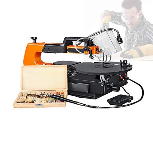 Sierras de calar de 120 W, sierras de calar profesionales con eje flexible y accesorios de 100 piezas, grosor de corte de 50 mm / 2 ', ángulo de banco de trabajo de 0 a 45 grados; ajuste para el hobb