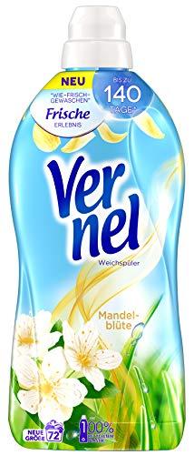 Vernel Mandelblüte, Weichspüler, 396 (6 x 66) Waschladungen, für einen langanhaltenden Duft