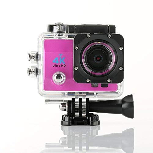 LPLHHX Action Camera 4k HD Anti-Shake Waterproof Camera with Night Vision Q3H Outdoor Sports Camera LED Fill Light Night Shooting (Color : Pink)