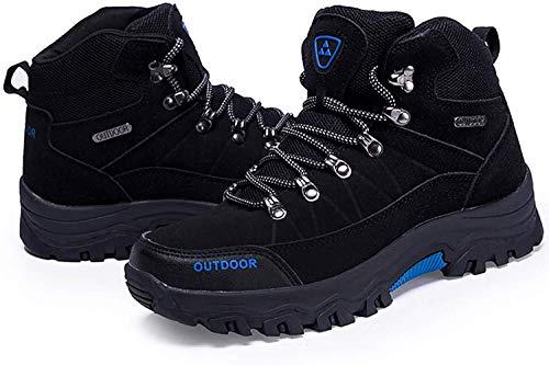 LSYSAG Zapatillas de Senderismo para Hombre Botas De Senderismo Deporte Exterior Zapatillas de Trekking Negro 44 EU