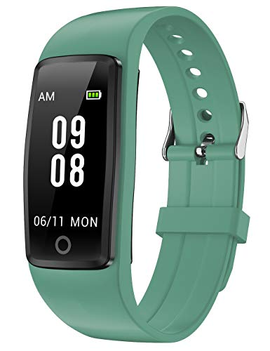 Willful Fitness Tracker Non Bluetooth (Simple, No App No Phone Needed) 2020 Ver Fitness Watch Waterproof Pedometer Watch with Steps Calories Counter Sleep Tracker for Kids Parents Men Women (Green)