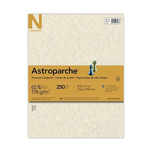 Neenah 4 X Astroparche Cover Stock, 8 1/2 x 11 Inch, Natural, 250 Sheets (26428)