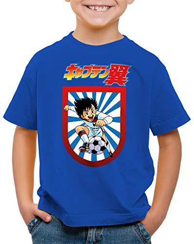 CottonCloud Tsubasa Camiseta para Niños T-Shirt Holly e Benji súper campeones, Color:Azul, Talla:140