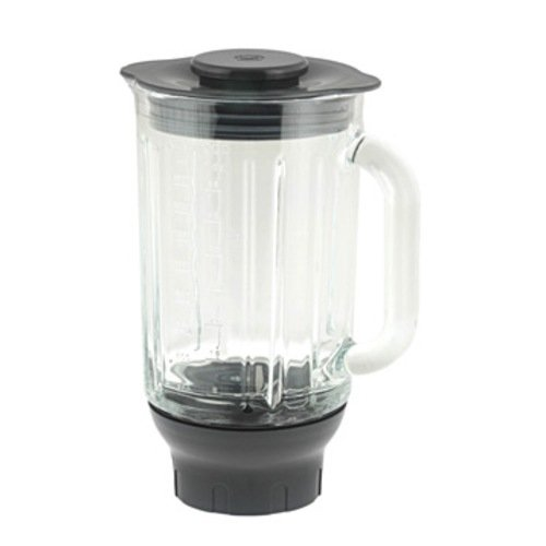 Kenwood AT 358 ThermoResist Glas-Mixaufsatz , 1,6 Liter / Grau
