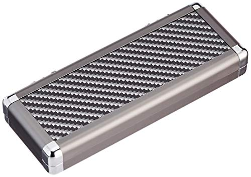 BULL'S Erwachsene Dartsafe L Aluminium Case, Silver/Black, L