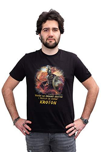 T shirt Stampa HD Guerriero Acheo, in tessuto morbido di qualità per abbigliamento comodo da indossare. Tessuto 100% cotone Made in Italy. Vestibilità Fit (XL UOMO Dim Larghezza 54,5 Lunghezza 75)