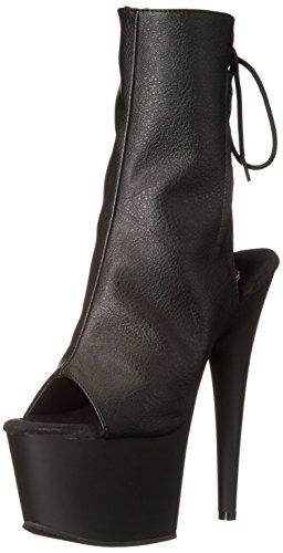 Pleaser Damen ADORE-1018 Stiefel, Black (Blk Faux Leather/Blk Matte), 41 EU