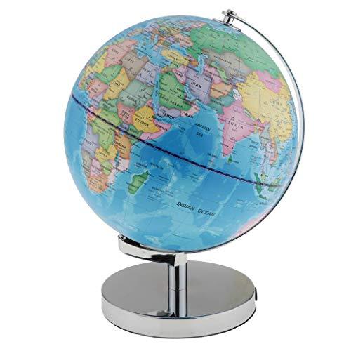 Backbayia LED Beleuchtete Weltkugel Globus Weltgeographie Globus Leuchtglobus Lernglobus