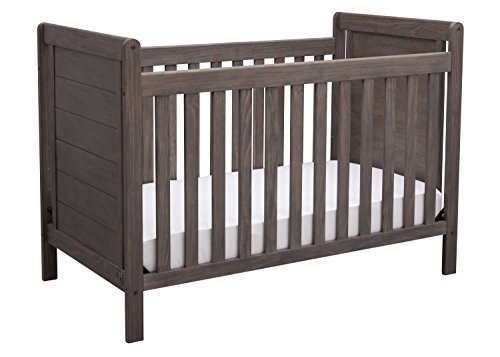 Serta Cali 4in1 Convertible Baby Crib Rustic Grey
