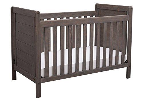 Serta Cali 4-in-1 Convertible Baby Crib, Rustic Grey