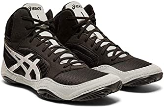 ASICS Unisex Snapdown 2 Wrestling Shoes, 11M, Black/Silver