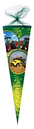 Nestler Schultüte Traktor Power Zuckertüte Schulanfang Einschulung Schule: Größe: 50cm rund