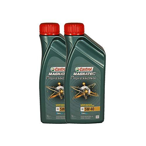 Castrol Magnatec Professional OE 5W40 - Olio per Auto, Lubrificante 5W-40 2 Litri