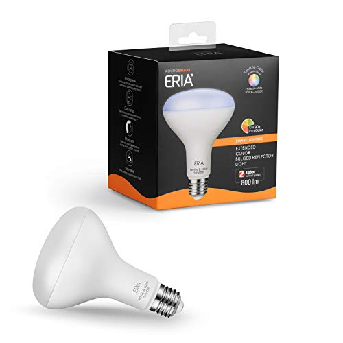 ERIA Colors and White BR30 65W Equivalent Dimmable CRI 90+ Smart Bulb Works with ERIA/Philips Hue/Alexa/Google Assistant