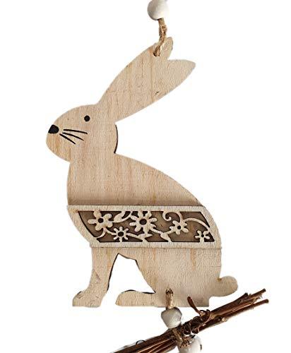 Funnythings Raamdecoratie Pasen houten hanger haas prachtige decoratie als wand- en deursieraad voor Pasen