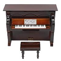 ミニチュアピアノ、ミニチュア楽器、ミニ楽器 本棚の精巧な出来映え(Brown, blue)