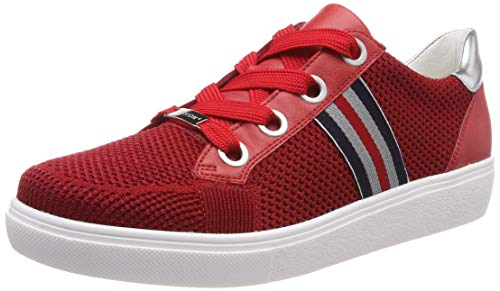 ara NEW YORK 1214512, Damen Niedrig, Rot (Rot, Silber 06), 43 EU (9 UK)