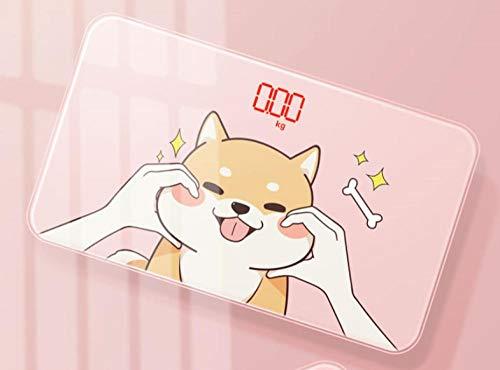 sufengshop Mini básculas hogar pequeño humano pesaje básculas electrónicas portátil niñas dormitorio modelos de carga compacta lindo perro
