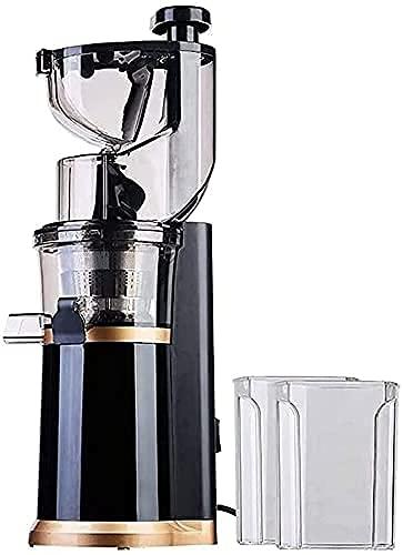 WYFX Máquina exprimidora, exprimidor Lento Máquina exprimidora de masticación Lenta con exprimidor de Prensa en frío de Canal Grande de 80 mm para nutrientes de Frutas y Verduras Máquina exprimid