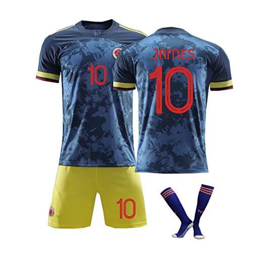 Tuta da calcio Colombia No.10 J Luo, James Copa America home Maglia da calcio maschile divisa da allenamento maschile Divisa da calcio per bambini-blue10-S