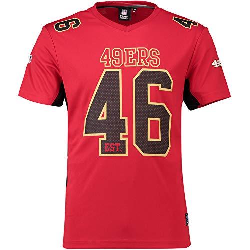 Fanatics San Francisco 49ers T Shirt NFL Fanshirt Jersey American Football Rot - 5XL