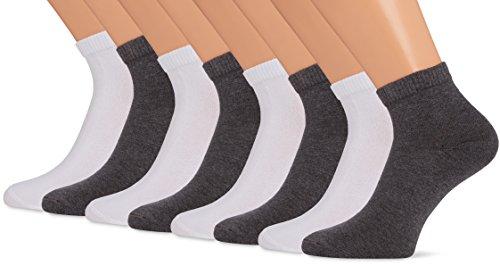 S.Oliver Socks S21009 Socquettes, Blanc (1), 36 W/34 L (Lot de 8) Homme